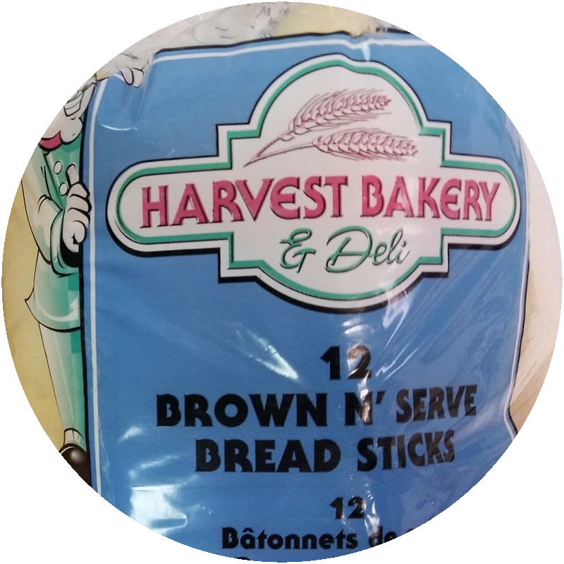 Bread Sticks (Brown 'n' Serve)